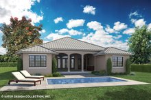 Country Exterior - Rear Elevation Plan #930-466