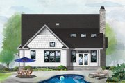 Cottage Style House Plan - 3 Beds 2 Baths 1839 Sq/Ft Plan #929-1093 Exterior - Rear Elevation