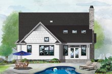 Cottage Exterior - Rear Elevation Plan #929-1093