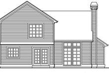 Traditional Exterior - Rear Elevation Plan #48-305