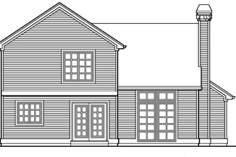 Traditional Exterior - Rear Elevation Plan #48-305 - Houseplans.com