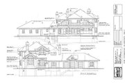 Modern Style House Plan - 3 Beds 3 Baths 3427 Sq/Ft Plan #47-198 Exterior - Rear Elevation