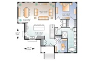 Ranch Style House Plan - 4 Beds 2.5 Baths 2133 Sq/Ft Plan #23-2614 Floor Plan - Main Floor Plan