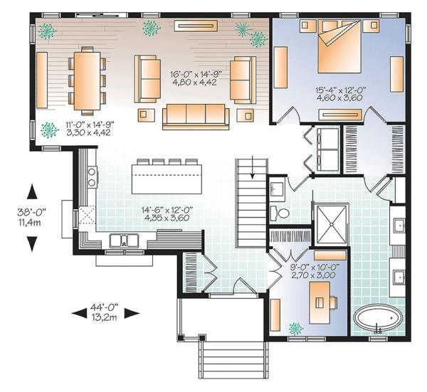 House Plan Design - Ranch Floor Plan - Main Floor Plan #23-2614