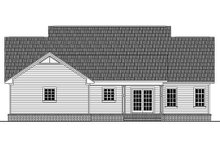 Country style home, farmhouse design, rear elevation