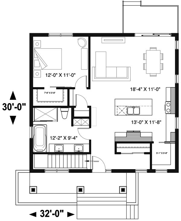 Modern Floor Plan - Main Floor Plan Plan #23-2677