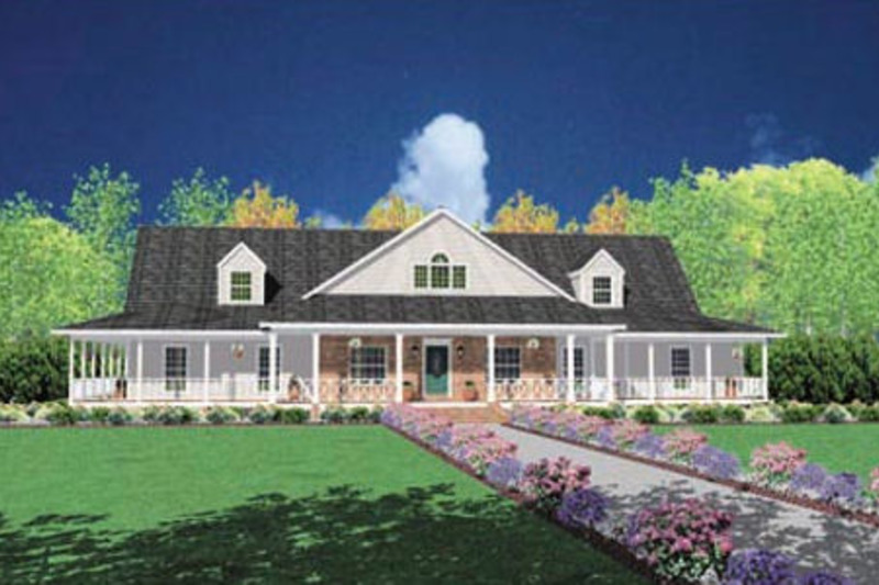 Traditional Exterior - Front Elevation Plan #36-234 - Houseplans.com