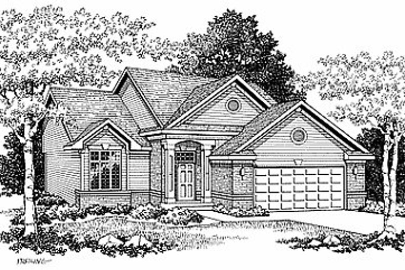 Traditional Exterior - Front Elevation Plan #70-226