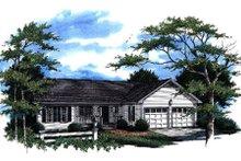 Home Plan Design - Ranch Exterior - Front Elevation Plan #41-170