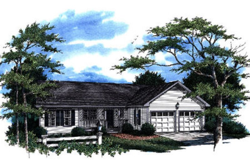 Ranch Style House Plan - 3 Beds 2 Baths 1681 Sq/Ft Plan #41-170 Exterior - Front Elevation