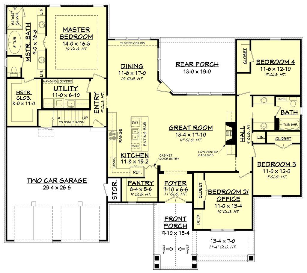 4 Beds 4 Baths 2263 Sq Ft Plan: 4 Beds 2 Baths 2281 Sq/Ft Plan