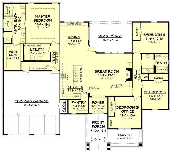 Dream House Plan - Country Floor Plan - Main Floor Plan #430-194