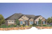 Traditional Style House Plan - 5 Beds 3.5 Baths 3614 Sq/Ft Plan #24-103 Exterior - Front Elevation