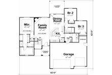 Mediterranean Floor Plan - Main Floor Plan Plan #20-2174