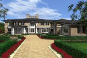 Traditional Style House Plan - 4 Beds 7 Baths 9820 Sq/Ft Plan #132-217 Exterior - Front Elevation
