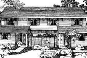 Traditional Exterior - Front Elevation Plan #303-195