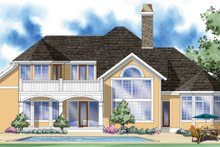 House Plan Design - Country Exterior - Rear Elevation Plan #930-298