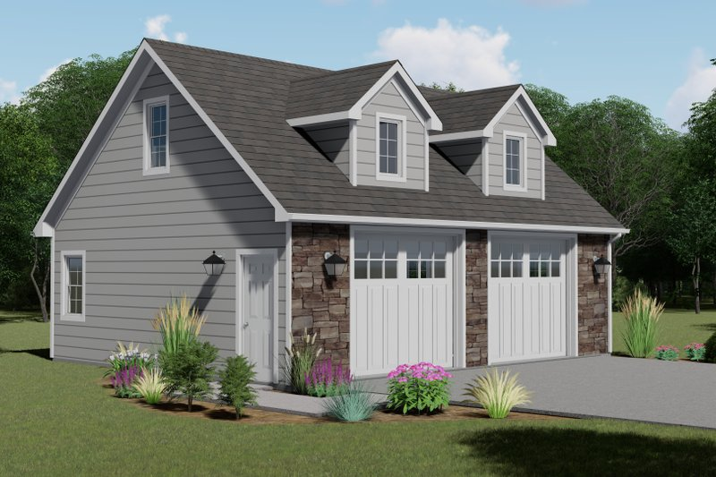 Dream House Plan - Craftsman Exterior - Front Elevation Plan #1064-50