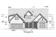 Ranch Style House Plan - 4 Beds 3.5 Baths 2329 Sq/Ft Plan #1071-21 Exterior - Front Elevation