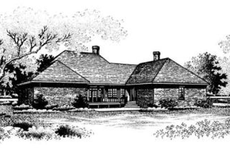 Southern Exterior - Rear Elevation Plan #45-174 - Houseplans.com