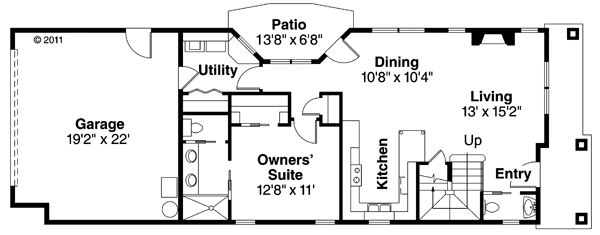 Traditional Floor Plan - Main Floor Plan Plan #124-877