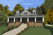 Southern Style House Plan - 3 Beds 2.5 Baths 2522 Sq/Ft Plan #63-391 Exterior - Front Elevation