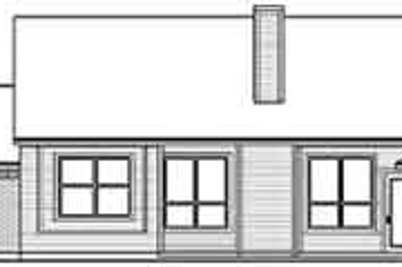 Traditional Exterior - Rear Elevation Plan #84-228 - Houseplans.com