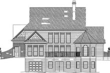 Home Plan - Colonial Exterior - Rear Elevation Plan #119-160