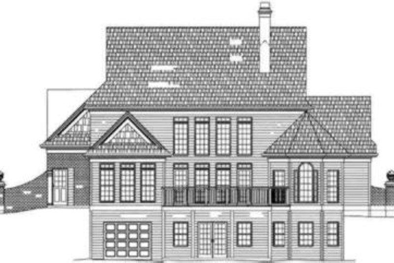 Colonial Exterior - Rear Elevation Plan #119-160 - Houseplans.com