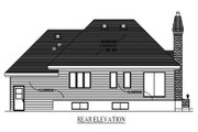 Traditional Style House Plan - 2 Beds 1.5 Baths 1024 Sq/Ft Plan #138-313 Exterior - Rear Elevation