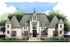European Exterior - Front Elevation Plan #119-346