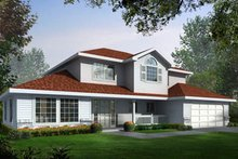 Traditional Exterior - Front Elevation Plan #93-203