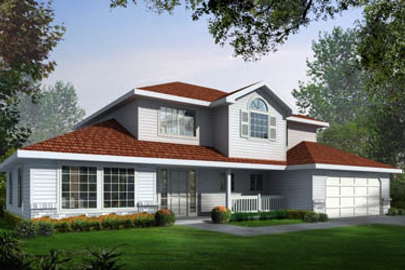 Home Plan Design - Traditional Exterior - Front Elevation Plan #93-203