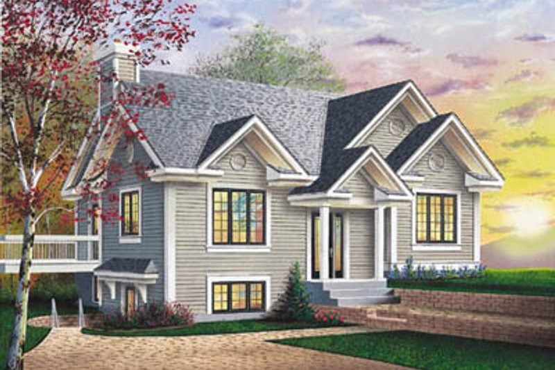 Modern Exterior - Front Elevation Plan #23-182 - Houseplans.com