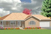 Traditional Style House Plan - 2 Beds 1.5 Baths 1374 Sq/Ft Plan #414-104 Exterior - Front Elevation