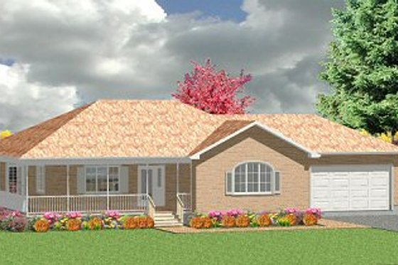 Traditional Exterior - Front Elevation Plan #414-104