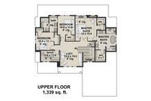 Farmhouse Floor Plan - Upper Floor Plan Plan #51-1148