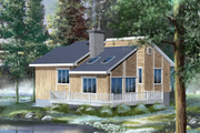 Cabin Style House Plan - 2 Beds 1 Baths 946 Sq/Ft Plan #25-1119 Exterior - Rear Elevation