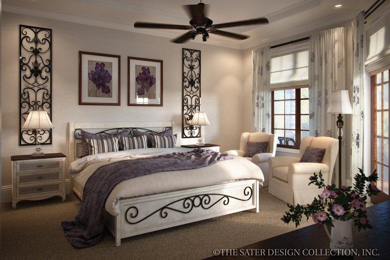 Mediterranean Interior - Bedroom Plan #930-12 - Houseplans.com