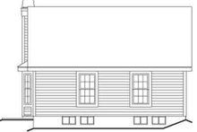 Cottage Exterior - Rear Elevation Plan #57-196