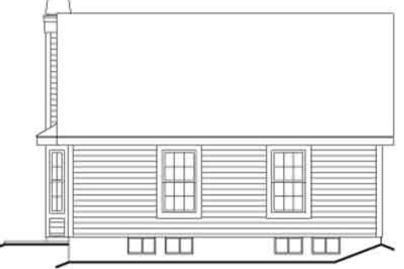 Cottage Exterior - Rear Elevation Plan #57-196 - Houseplans.com