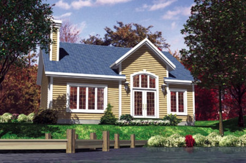 Country Style House Plan - 2 Beds 1 Baths 952 Sq/Ft Plan #138-311 Exterior - Front Elevation