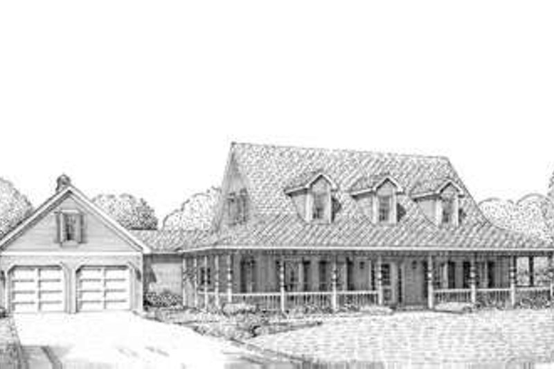 Southern Exterior - Front Elevation Plan #410-175 - Houseplans.com