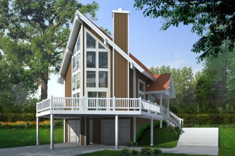 Modern Style House Plan - 2 Beds 2 Baths 1472 Sq/Ft Plan #100-452 Exterior - Front Elevation