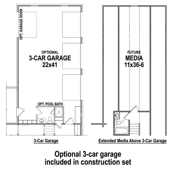 House Design - Optional 3-Car Garage