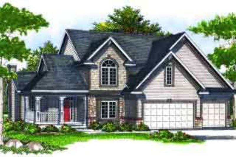 Traditional Exterior - Front Elevation Plan #70-702 - Houseplans.com