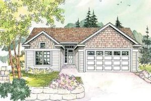 House Plan Design - Exterior - Front Elevation Plan #124-594