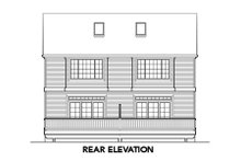 Dream House Plan - Traditional Exterior - Rear Elevation Plan #48-366