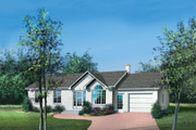 Ranch Style House Plan - 2 Beds 1 Baths 1000 Sq/Ft Plan #25-4105 Exterior - Front Elevation