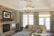 Ranch Style House Plan - 4 Beds 3 Baths 3369 Sq/Ft Plan #929-1019 Interior - Family Room